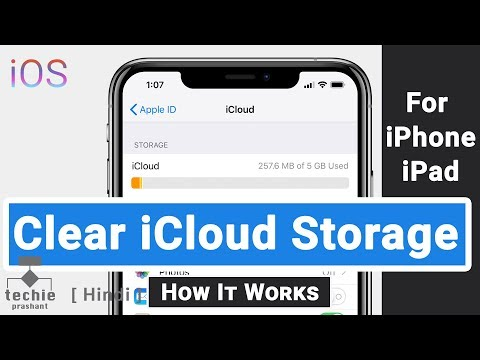 How to Clean Up iCloud Storage Space or Data in iPhone, iPad | Techie Prashant | HINDI