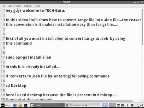 How to convert tar.gz file to .deb file in ubuntu or Linux lite