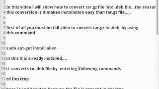 كيفية تحويل tar.gz ملف .الملف deb في أوبونتو أو لينكس لايت