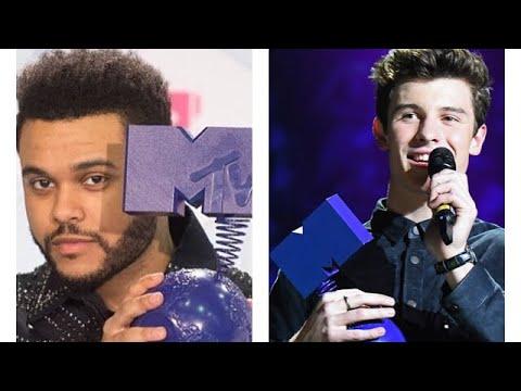 The Weeknd and Shawn Mendes at MTV VMA Awards