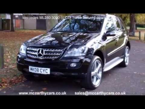 used mercedes ml280 3000 cc cdi edition 10 auto mk08 for sale croydon mccarthy cars four wheel. Black Bedroom Furniture Sets. Home Design Ideas