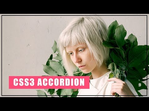 Simple Accordion With Html And Css | Pure CSS Accordion | Web Design