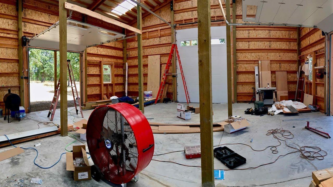 Installing Overhead Garage Doors On Mountain View Ranch