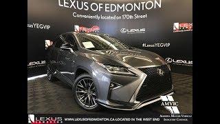 Gray 2016 Lexus RX 350 F Sport Series 2 Review Edmonton Alberta - Lexus of Edmonton