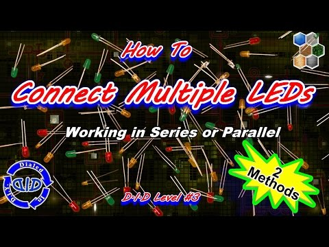 how to connect multiple leds together - tutorial - make a string of lights  - youtube