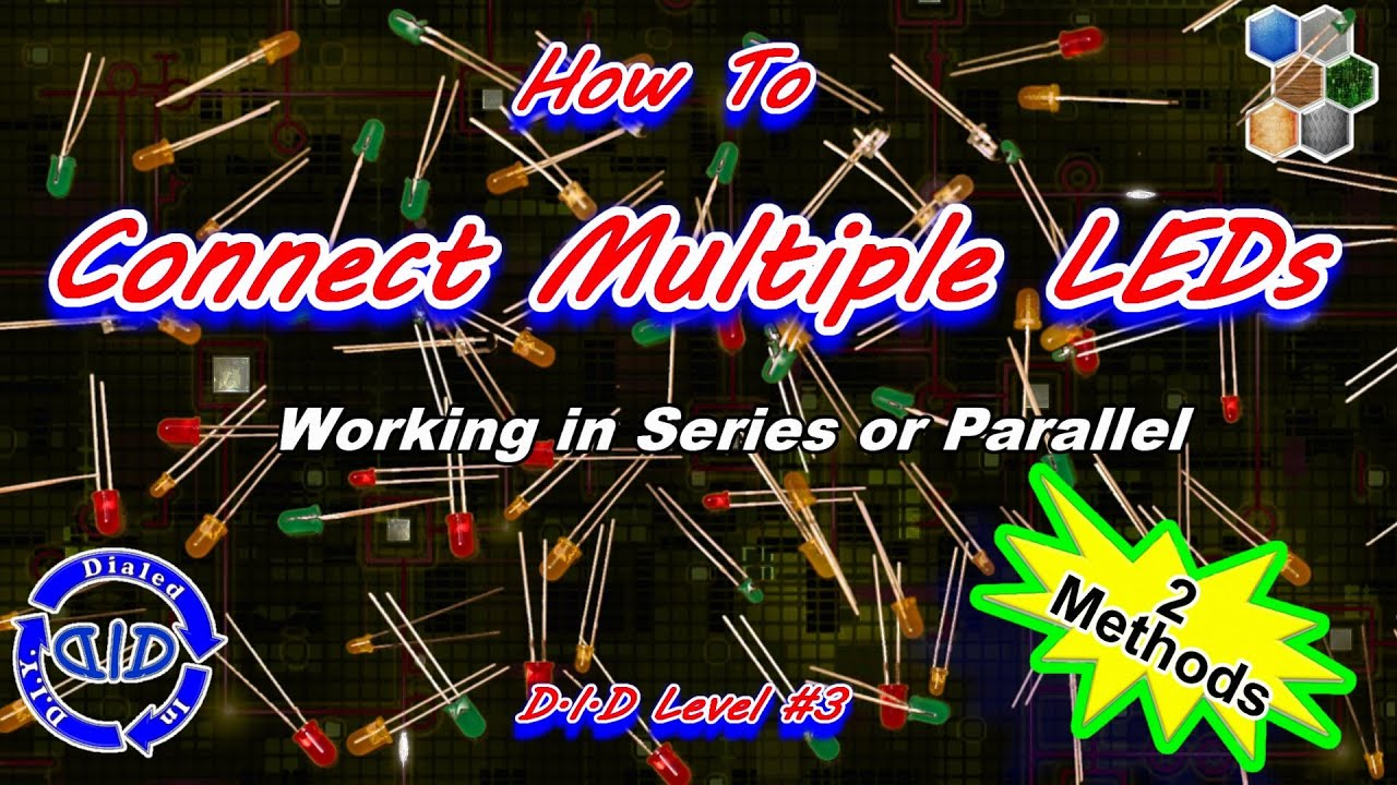 How To Connect Multiple Leds Together Tutorial Make A String Of Lights
