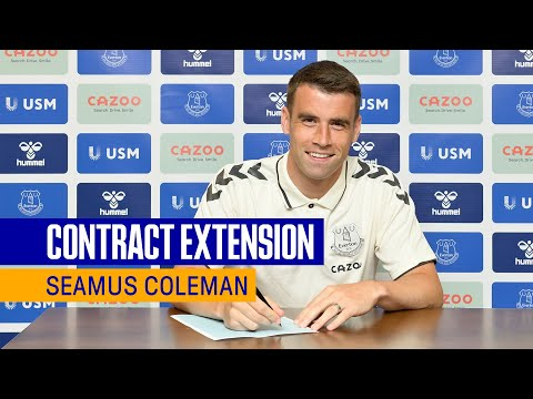 SEAMUS COLEMAN SIGNS CONTRACT EXTENSION AT EVERTON