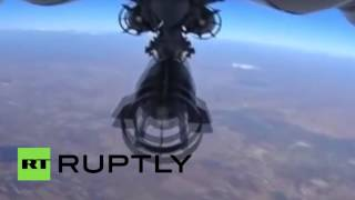 FULL FOOTAGE: GoPro films Russian military plane attacking targets in Syria