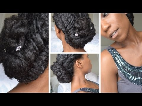 elegant-fishtail-braid-updo-|-natural-hair