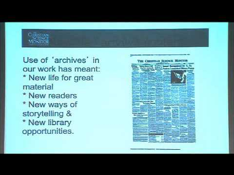 Leigh Montgomery, Christian Science Monitor | Newspaper Archive Summit