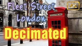 London's decimated Fleet Street - Walk with me down Fleet Street to St Pauls - Local London Guide