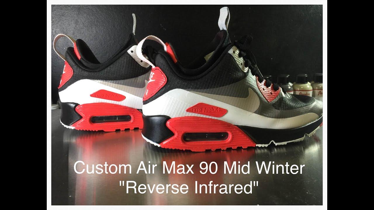 30f3158632 ... sale custom air max 90 reverse infrared mid winter youtube 80f19 78e73
