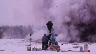 """Съемки фильма """"28 панфиловцев"""". Взрывы. 23 января 2015"""