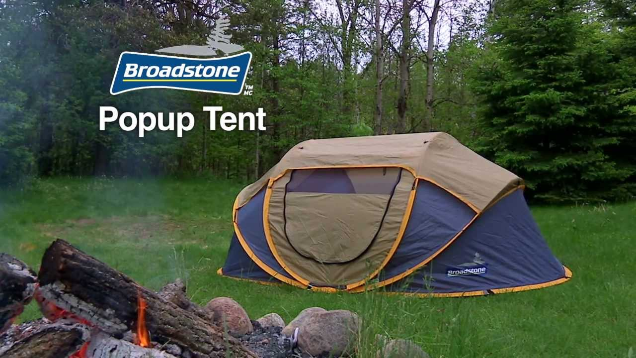 Broadstone Pop-up Tent From Canadian Tire - YouTube