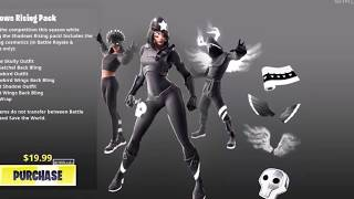 *NEW* Shadow Legends Pack is OUT NOW in Fortnite Battle Royale! (Shadows Rising Skin Bundle)