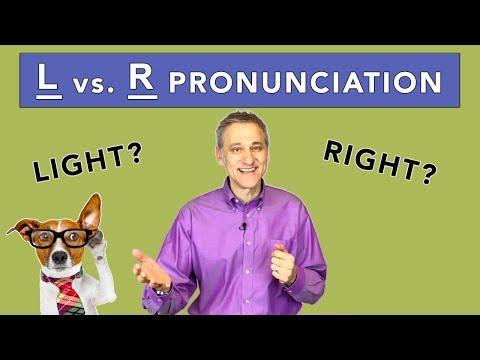 L vs. R Pronunciation Practice - American English