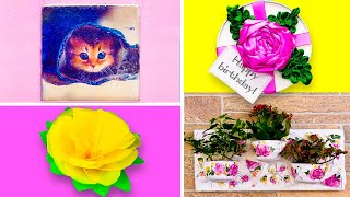 28 DECOR CRAFTS FOR THE WHOLE FAMILY | Flowers ideas and ribbon DIYs for any occasion!