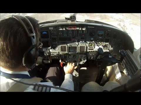 Single pilot flight in a Citation V jet. Cockpit view with live ATC!