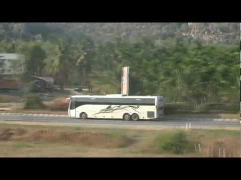 Volvo Bus Vs Train High Speed Action