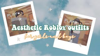 2019 aesthetic Roblox outfits for boys and girls
