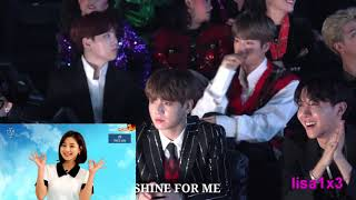 181106 BTS (Suga,Jin,RM,Jk,J-Hope) Reaction To Twice - What Is Love, DTNA, YoY @MGA 2018