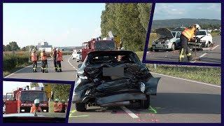 AUDI-Fahrer kracht in Stauende (4 Schwerverletzte) - B3 voll gesperrt - [E]