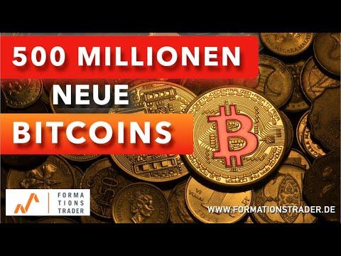 500 Millionen neue Bitcoin-Investitionen