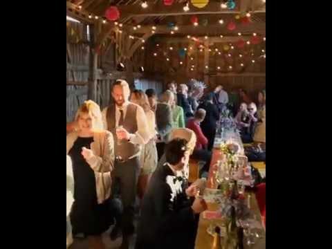 Indeedy Musical Bingo wedding conga line!