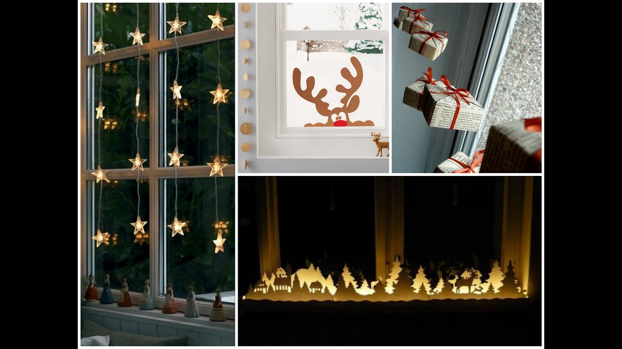 simple christmas window decorations youtube