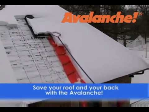 Avalanche Wheeled Roof Rake Model Ava500 Youtube