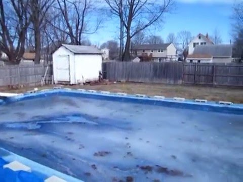Inground pool winter cover hold down youtube for How to winterize an inground swimming pool