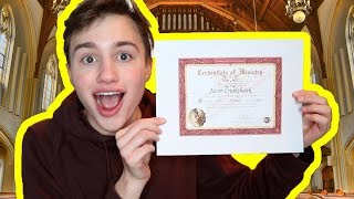 BECOMING AN ORDAINED MINISTER please let me marry you