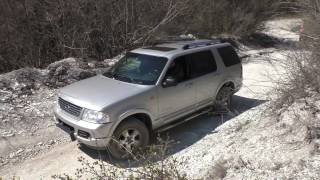 Небольшой Оффроуд тест внедорожника Ford Explorer 3 в Крымских горах