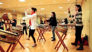 Tokyo American Club Taiko Class - for Tohoku.mov