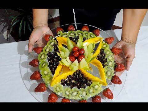 DELICIOUS CUT FRUIT CENTER - By J.Pereira Art Carving ...