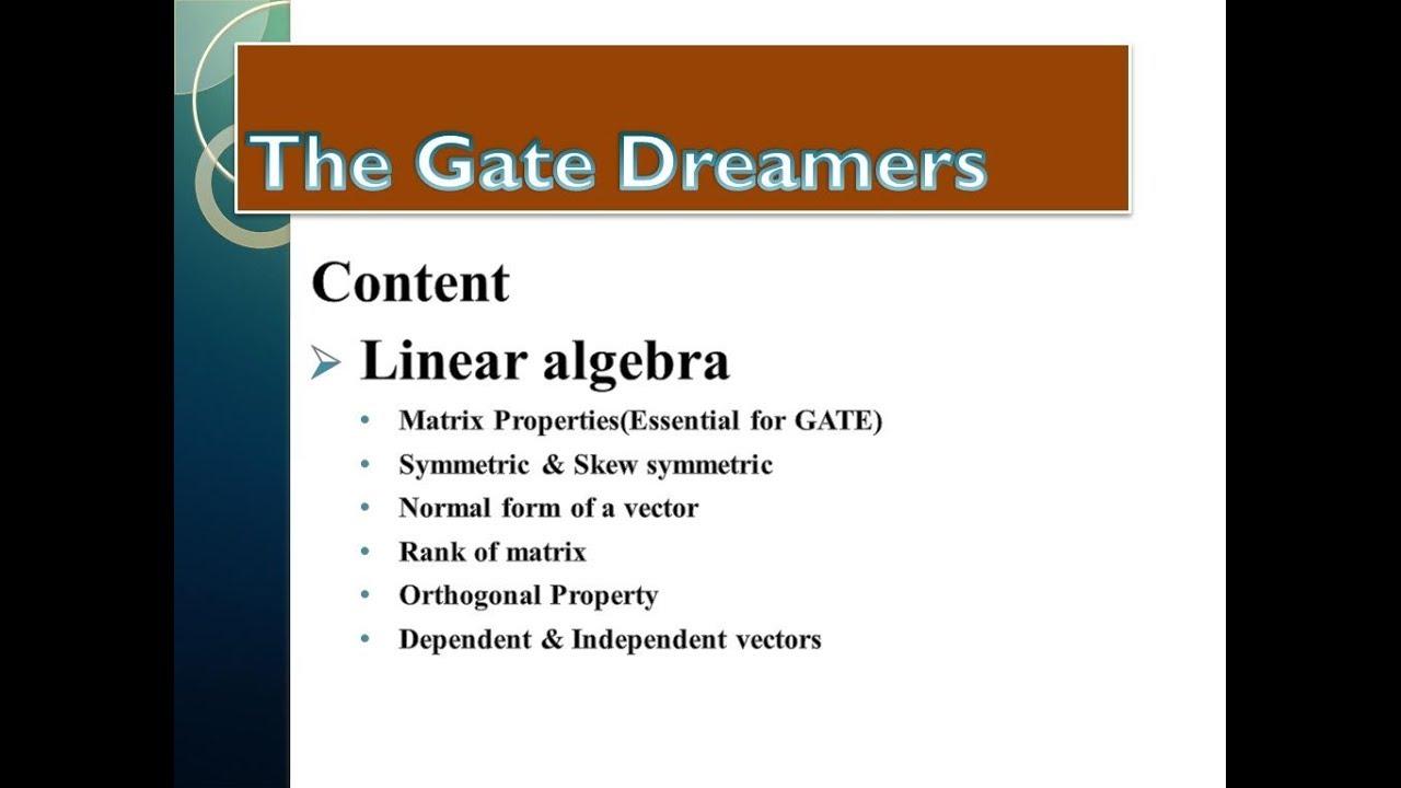 Mathematics Tutorial for Gate Part-2 || Linear algebra || Rank of Matrix & Properties