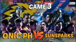 ONIC PH VS SUNSPARKS FINALS GAME 3