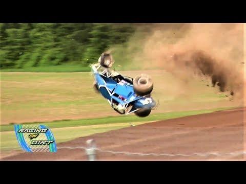6-9-18  Sprint Car Cartwheel  Merritt Speedway