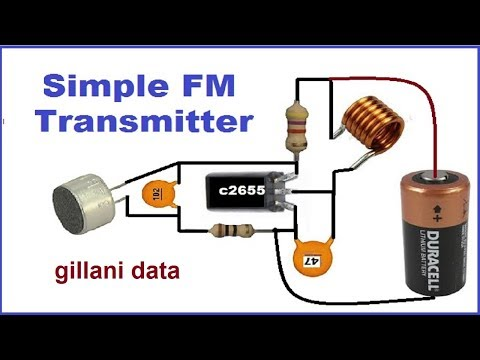 FM Transmitter with 5 compnents