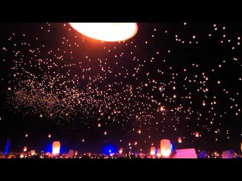 Rise Festival - First Wave of Lanterns - 2015 Mojave Desert - Near Las Vegas, NV