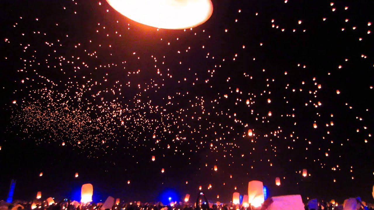 Rise Festival First Wave Of Lanterns 2017 Mojave Desert Near Las Vegas Nv You