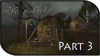 Life Is Feudal Gameplay Part 3 - Tiny Shack Building + Epic Fight! (building Tutorial)