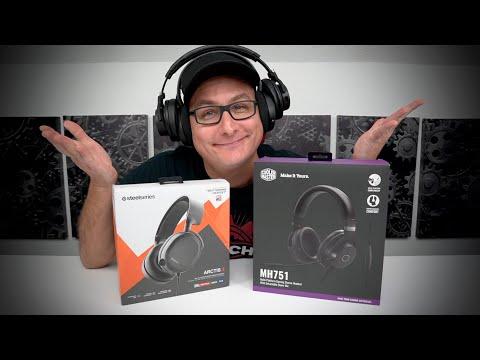 SteelSeries Arctis 3 (2019) VS Cooler Master MH751 Gaming Headset!!