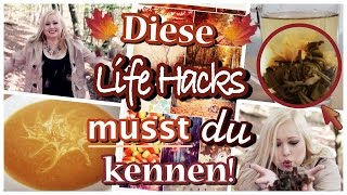 DIE BESTEN LIFE HACKS FÜR DEN HERBST - DIY PUMPKIN SPICE PEELING | KÜRBISSUPPE | OUTFIT | VERLOSUNG