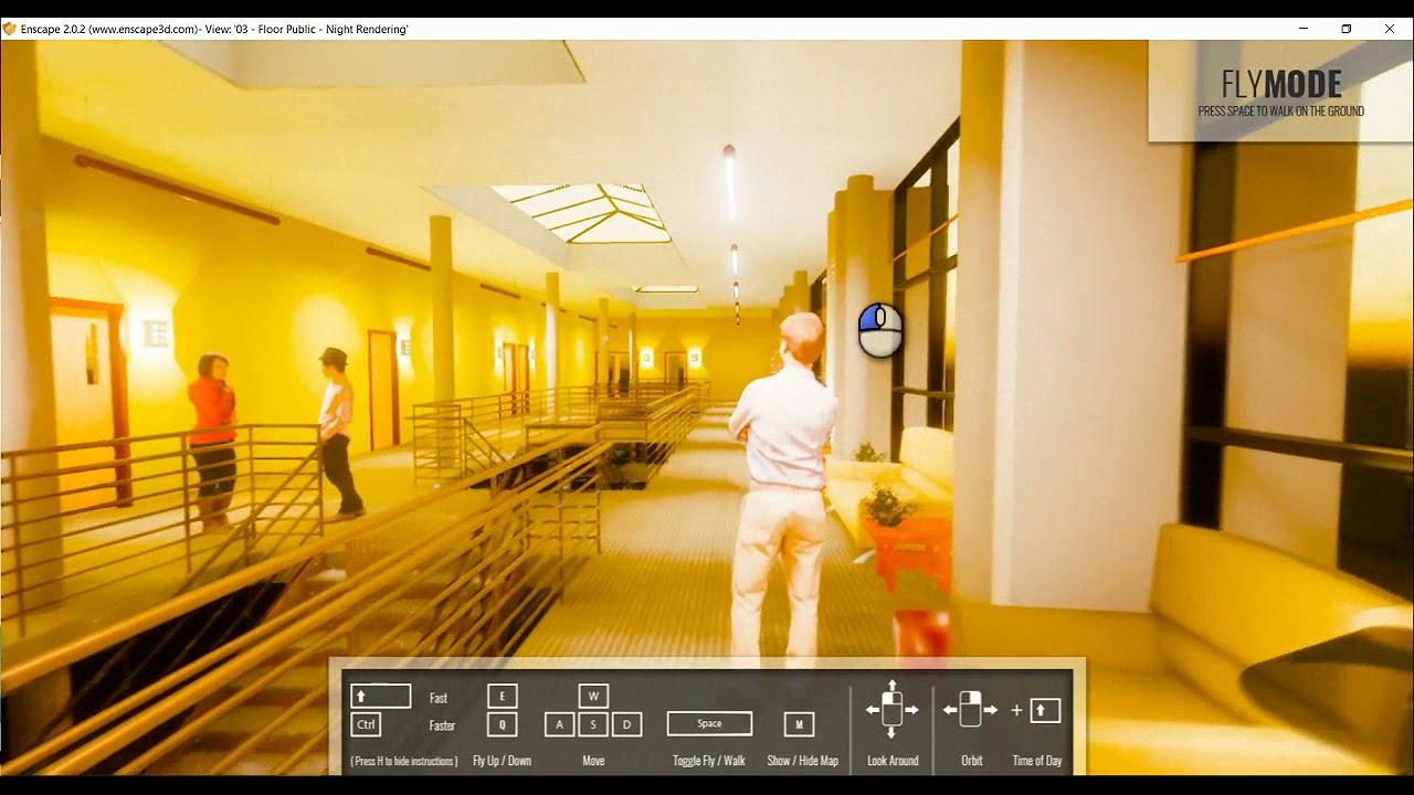 enscape for revit render lights in real time