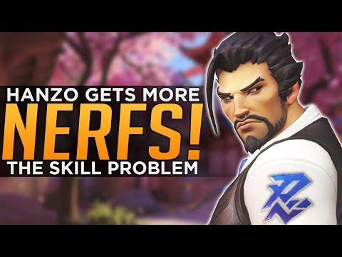 Overwatch: Hanzo NERFED Again!  Blizzard Nerfing SKILL!?