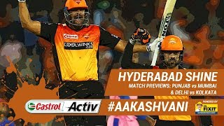 #IPL2019: #SRH shine at home: 'Castrol Activ' #AakashVani, powered by 'Dr. Fixit'