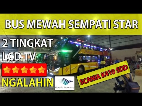 BUS MEWAH SEMPATI STAR SCANIA K410 DOUBLE DECKER | Medan~Banda Aceh Trip