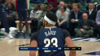 Pelicans' Anthony Davis Drops 37 Points 14 Rebounds and 4 Assists vs Pacers