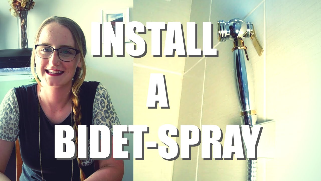 How To Install A Bidet Spray Easy Diy Youtube